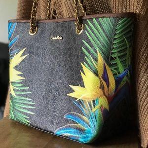 Calvin Klein Discontinued Tropical Print Bag